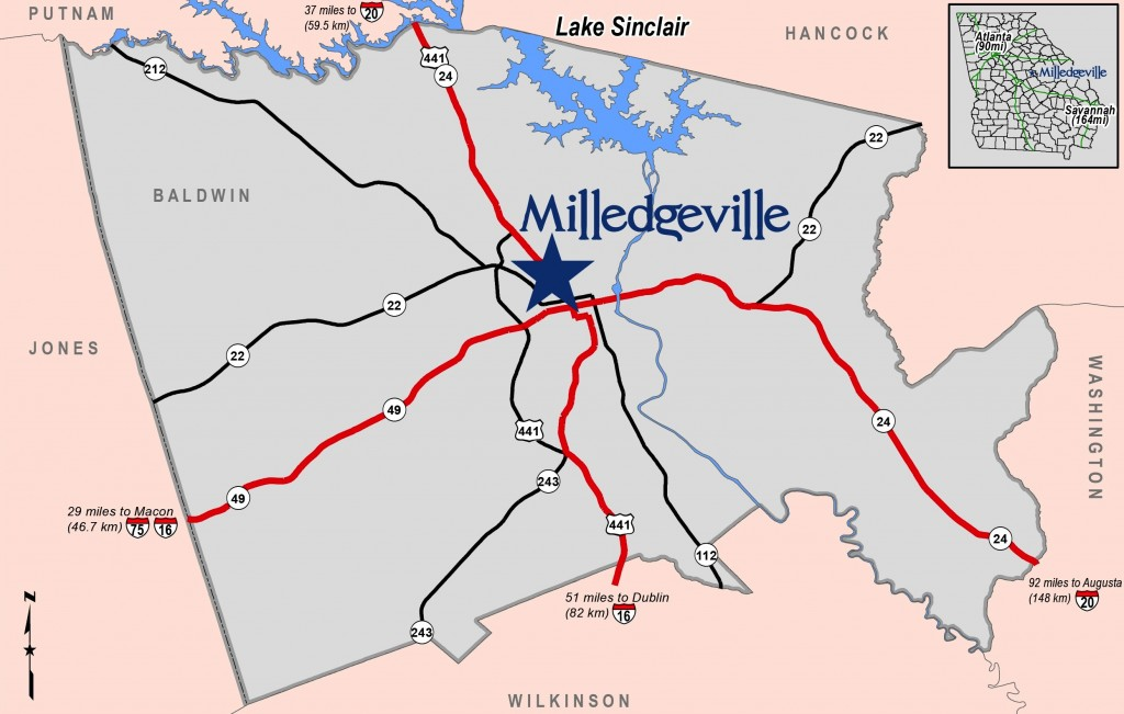 Maps Development Authority Of The City Of Milledgeville